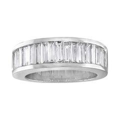 2.00 Carat Diamond Baguette Half Band Gold Ring