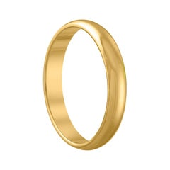 Yellow Gold Wedding Band Ring Size 12.25