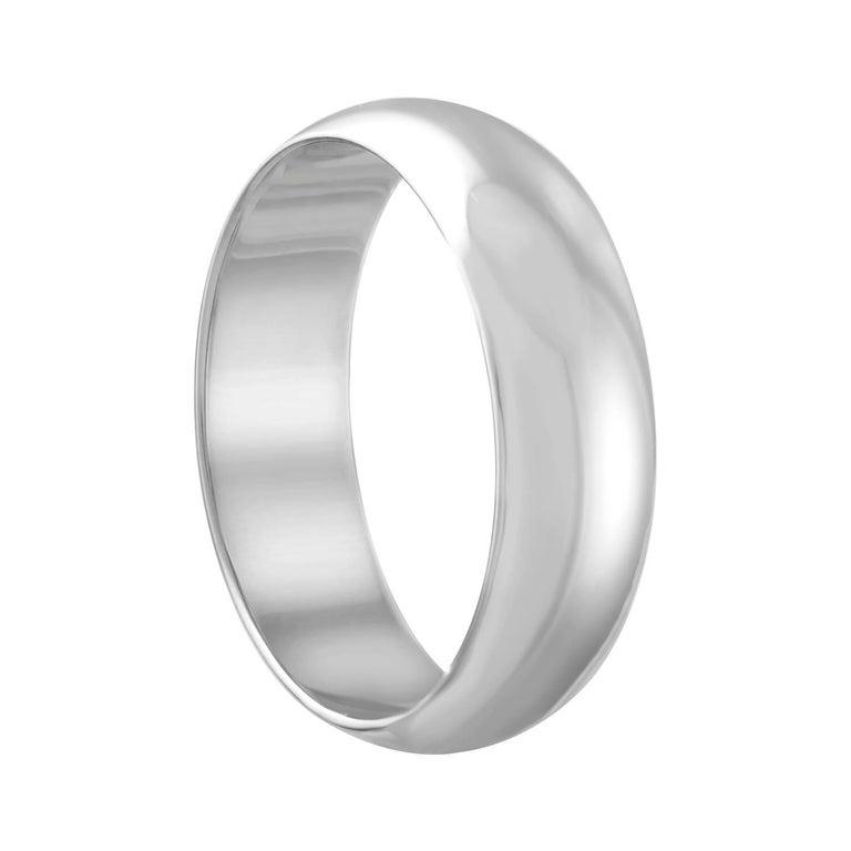 White Gold Wedding Band Ring Size 9