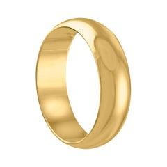 Yellow Gold Wedding Band Ring Size 9