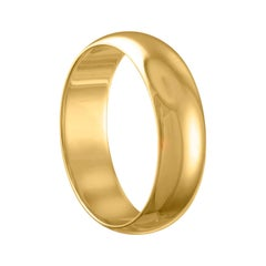 Yellow Gold Wedding Band Ring Size 9