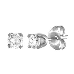 0.40 Carat Diamond Gold Stud Earrings