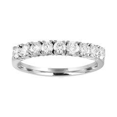 0.90 Carat Diamond Nine Stone Gold Half Band Ring