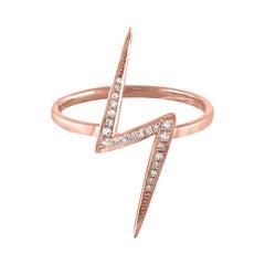 0.23 Carat Diamond Lightning Gold Ring