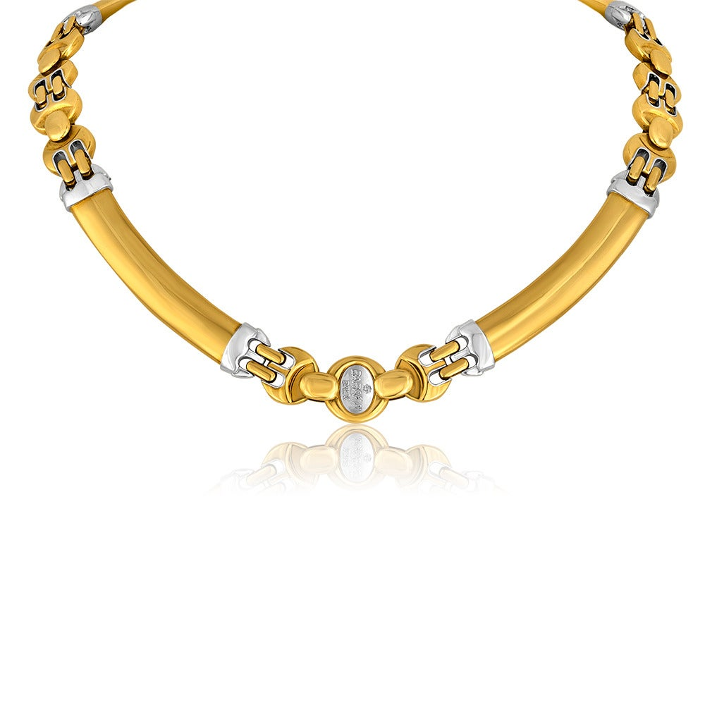 baracca jewelry baraka two color 18 karat gold necklace for sale at 1stdibs 9148