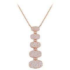 de Grisogono 5 Tier 3.65 Carats Diamond Gold Necklace