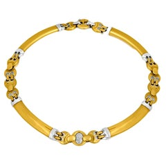 Baraka Two-Color 18 Karat Gold Necklace