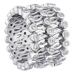 E.W. Schreiber KG Adjustable 1.30 Carats Diamond Gold Ring