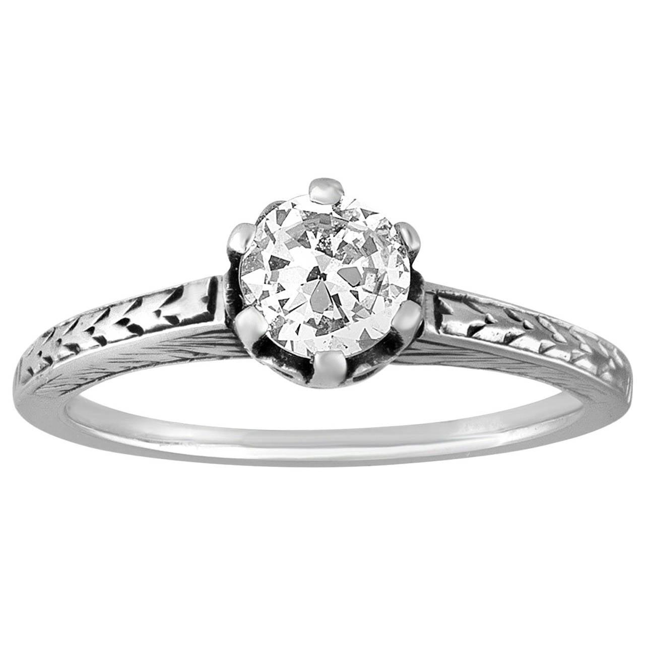 0.50 Carat Diamond Solitaire Gold Ring