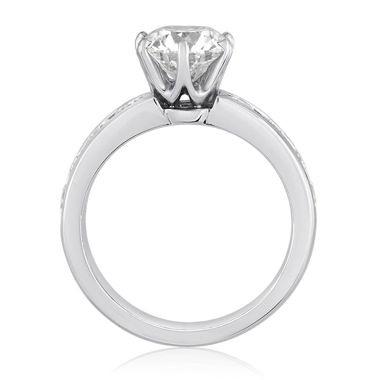Tiffany & Co. 1.71 Carat F IF Diamond Platinum Ring 4