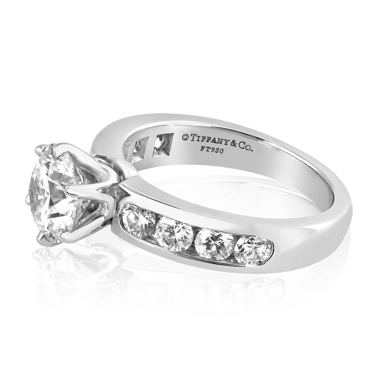 Tiffany & Co. 1.71 Carat F IF Diamond Platinum Ring 3