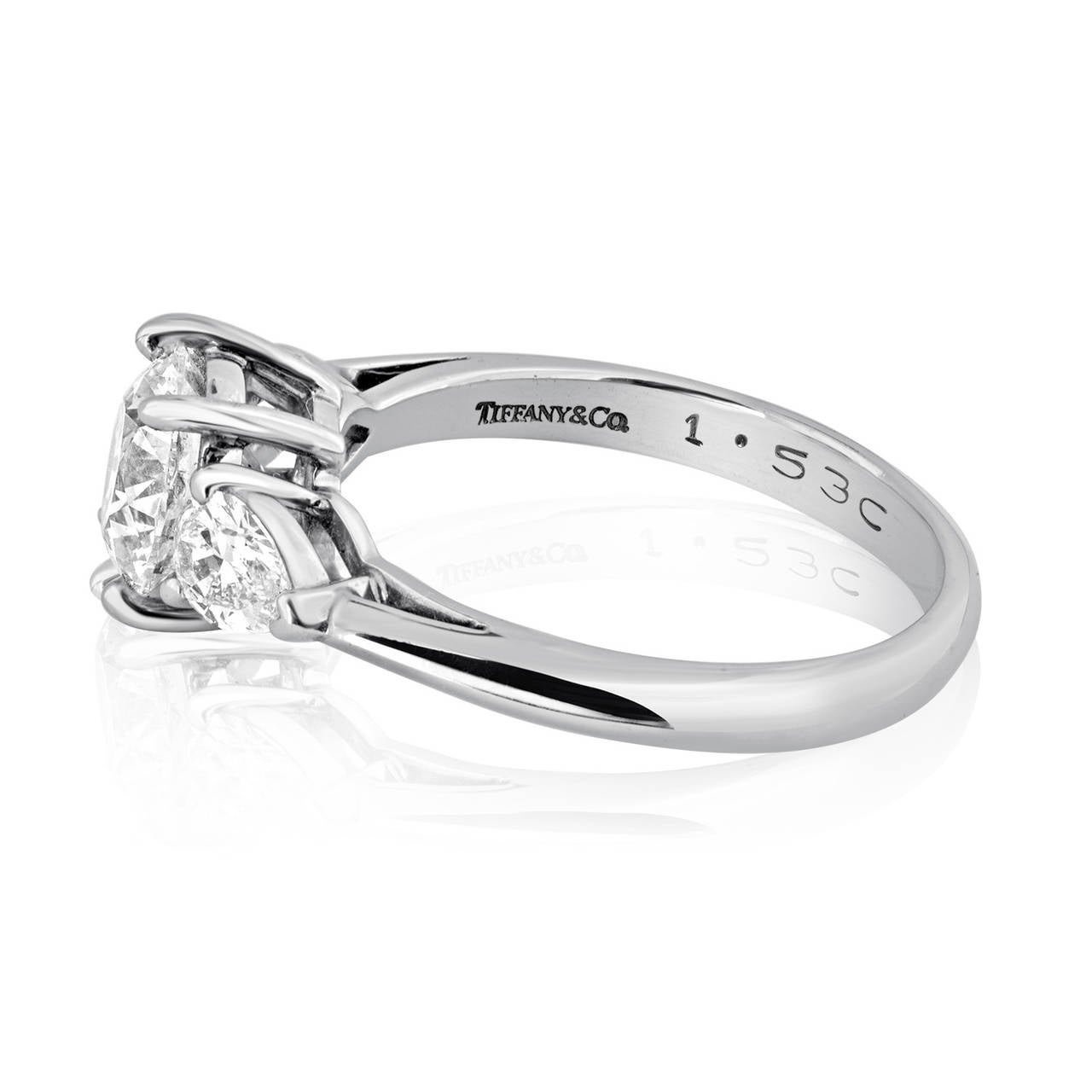 Tiffany & Co. 1.53 Carat G VS1 Diamond Platinum Engagement Ring 4
