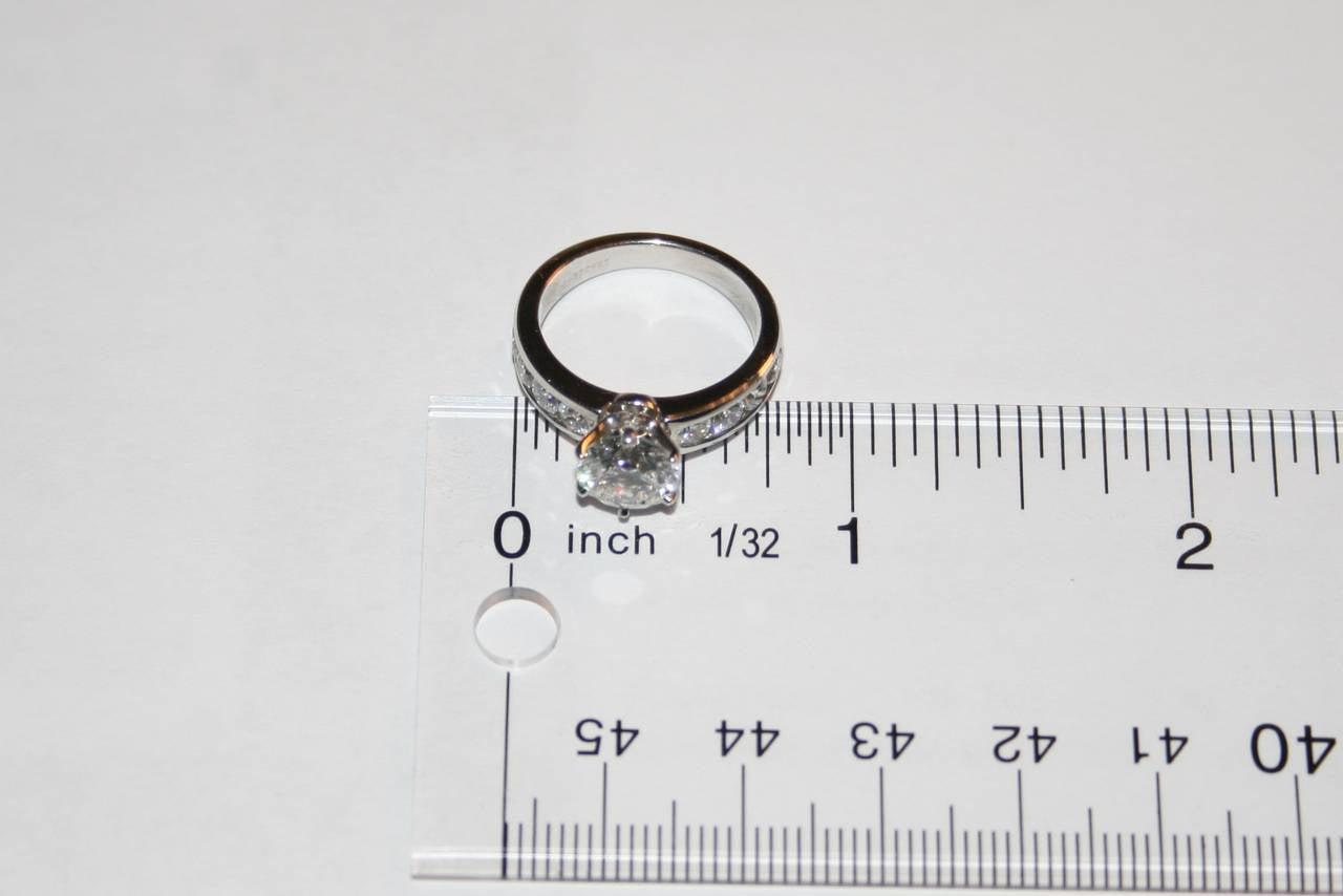 Tiffany & Co. 1.71 Carat F IF Diamond Platinum Ring 6