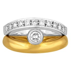 Baraka Reversible Diamond and Gold Ring