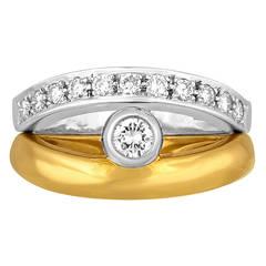 Baraka Reversible Diamond and Gold Ring