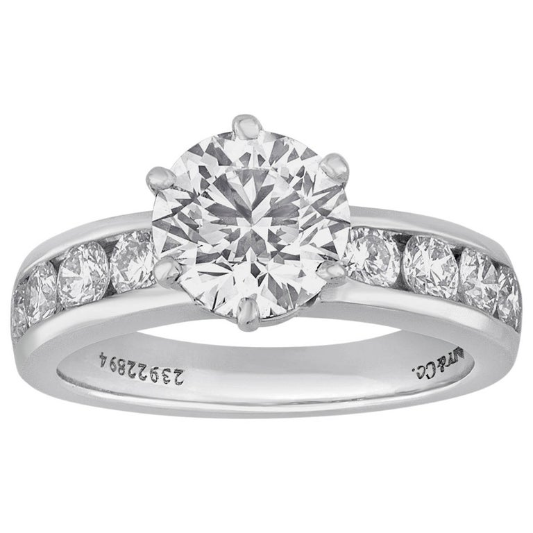 c10031933 Tiffany and Co. 1.71 Carat F IF Diamond Platinum Ring For Sale at ...