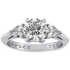Tiffany & Co. 1.53 Carat G VS1 Diamond Platinum Ring