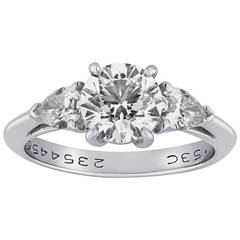 Tiffany & Co. 1.53 Carat G VS1 Diamond Platinum Ring
