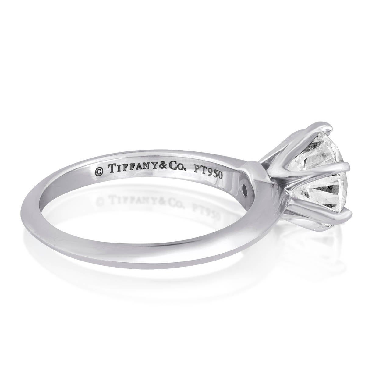 Tiffany & Co. 1.93 Carats G VVS1 Diamond Platinum Ring 2