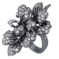 Dickson Yewn Glorious Peony Collection 2.50 Carats Diamond Gold Ring