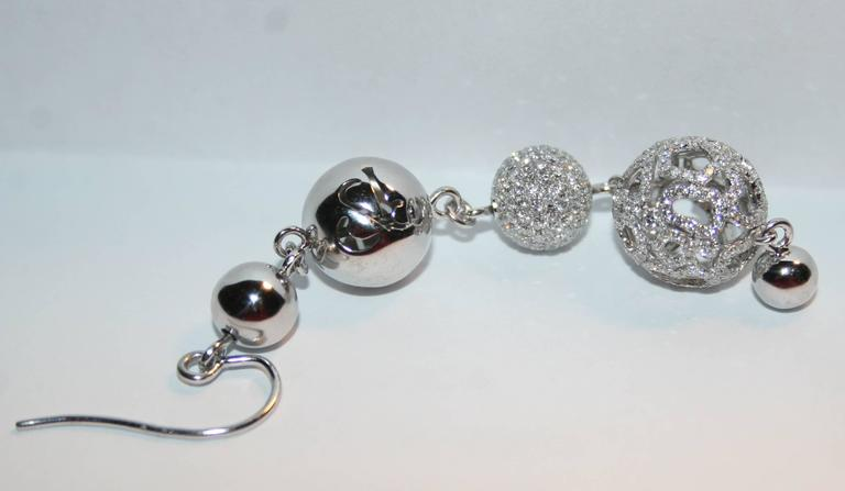 Jacob & Co. 4.64 Carats Diamond Gold Lace Ball Drop Earrings 6