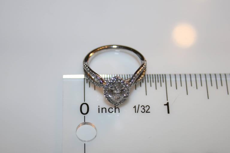 GIA Certified 0.74 Carat Marquise Diamond Gold Engagement Ring In New Condition For Sale In New York, NY