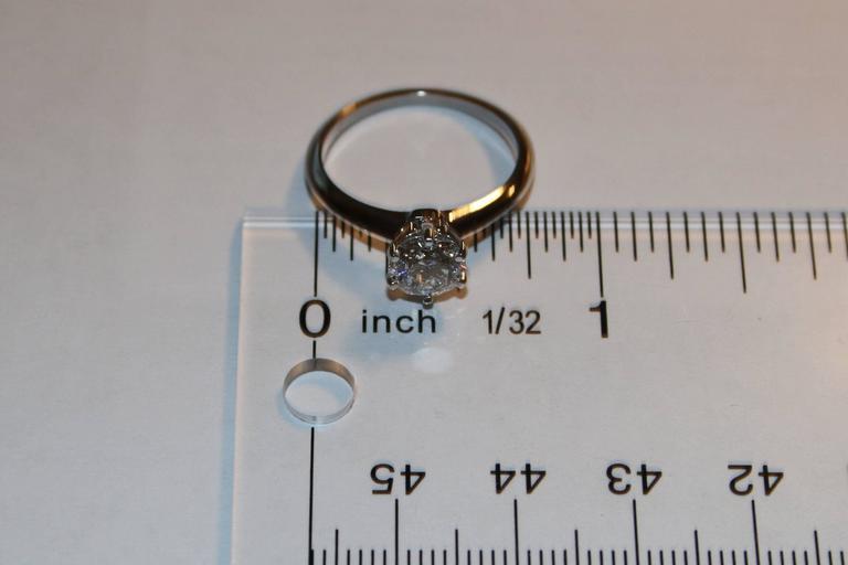 Women's Tiffany & Co. GIA Certified 1.19 Carat F VS1 Diamond Platinum Ring For Sale