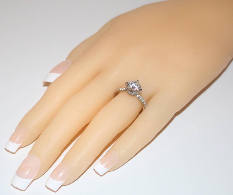 Hearts On Fire GIA 2.02 Carat G VVS2 Round Diamond Platinum Engagement Ring 4