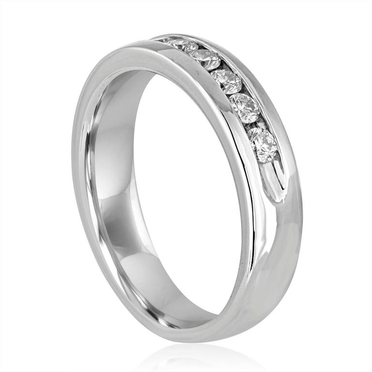 Men's Diamond Wedding Band Ring The Ring is Platinum 950 The Round Cut Diamonds are 1.00Ct G/H VS The ring is a size 12.5, sizable The ring weighs 16.4 grams