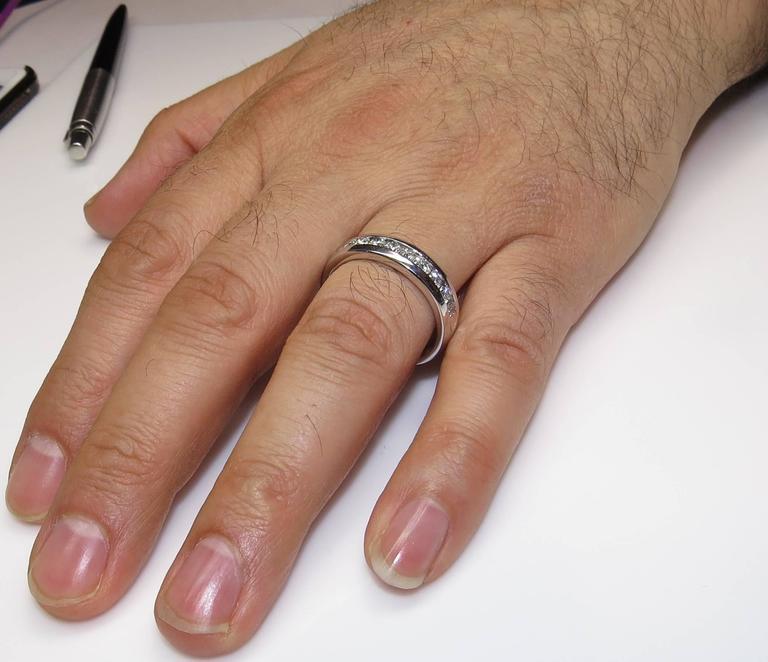 Wedding Band Men.1 00 Carat Men S Diamond Platinum Wedding Band Ring