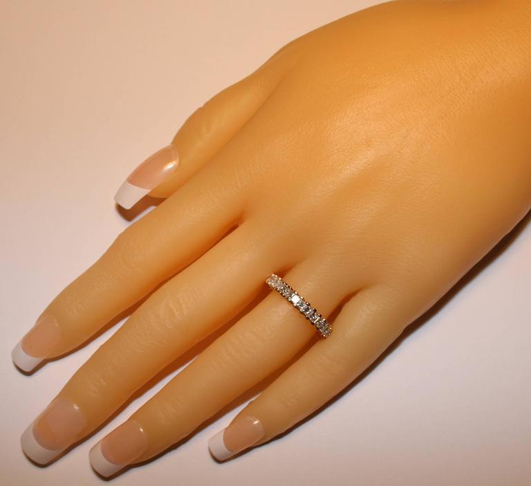 1.85 Carats Princess Cut Diamond Eternity Band Ring 2