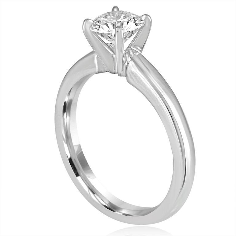 GIA Certified 1.03 Carat F VVS2 Round Diamond Platinum Engagement Ring 2