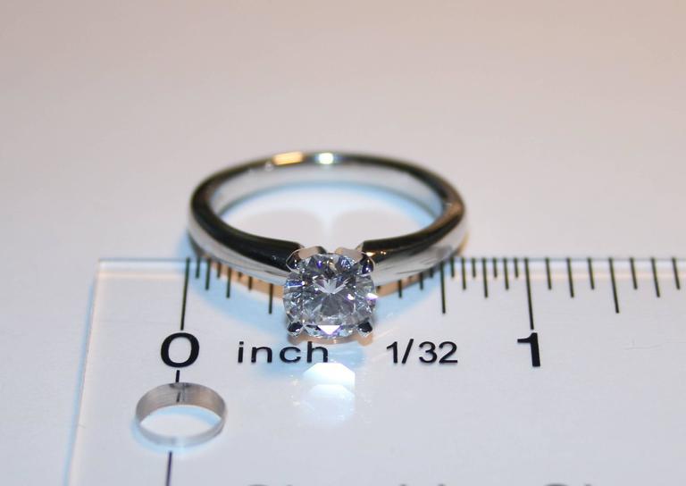 GIA Certified 1.03 Carat D IF Round Diamond Platinum Engagement Ring 4