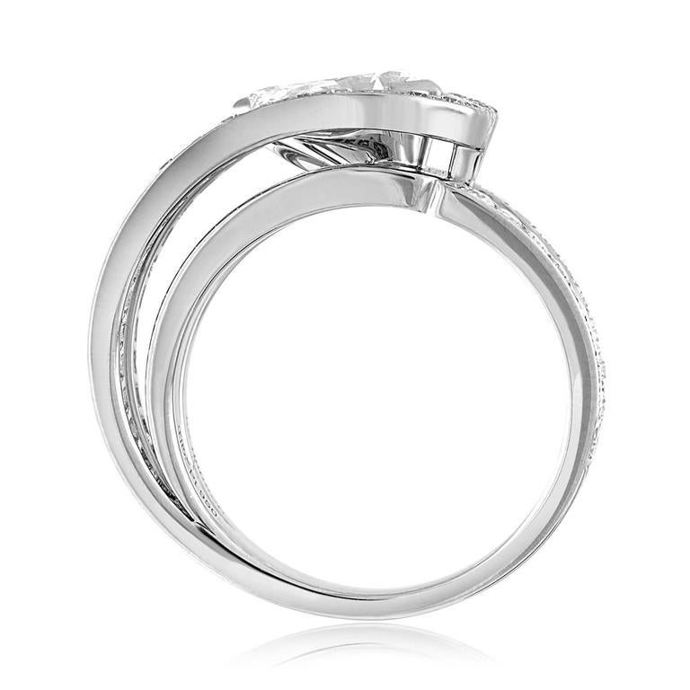 Fred of Paris GIA Certified 1.01 Carat E VVS1 Diamond Platinum Lovelight Ring 3