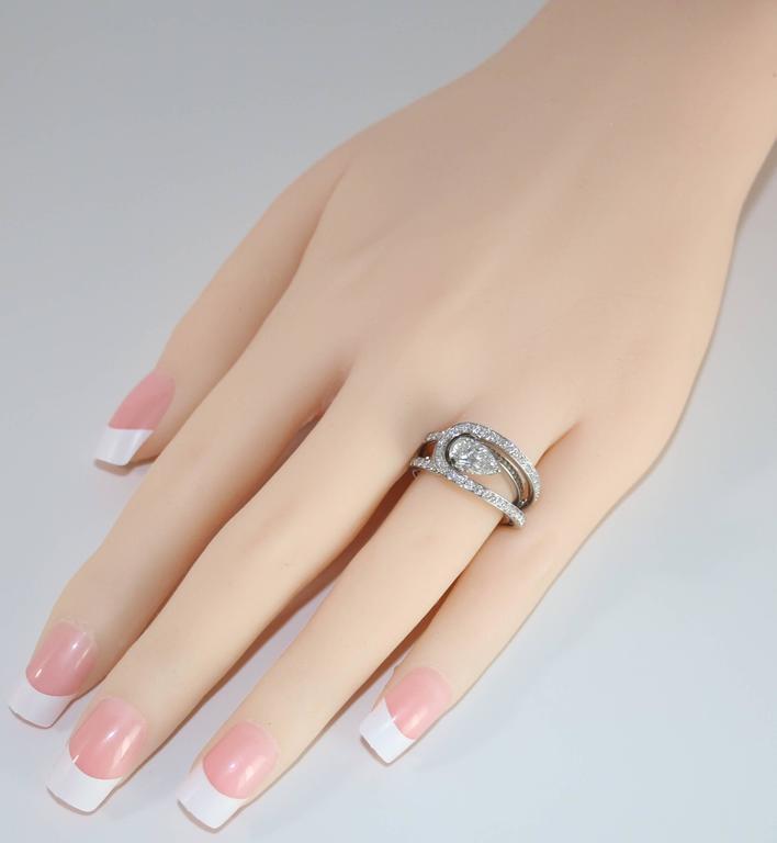 Fred of Paris GIA Certified 1.01 Carat E VVS1 Diamond Platinum Lovelight Ring 4