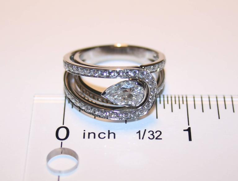 Fred of Paris GIA Certified 1.01 Carat E VVS1 Diamond Platinum Lovelight Ring 5