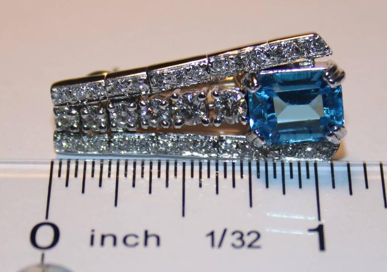 41.20 Carat Blue Topaz And Diamond Gold Necklace Earrings Bracelet Set For Sale 2