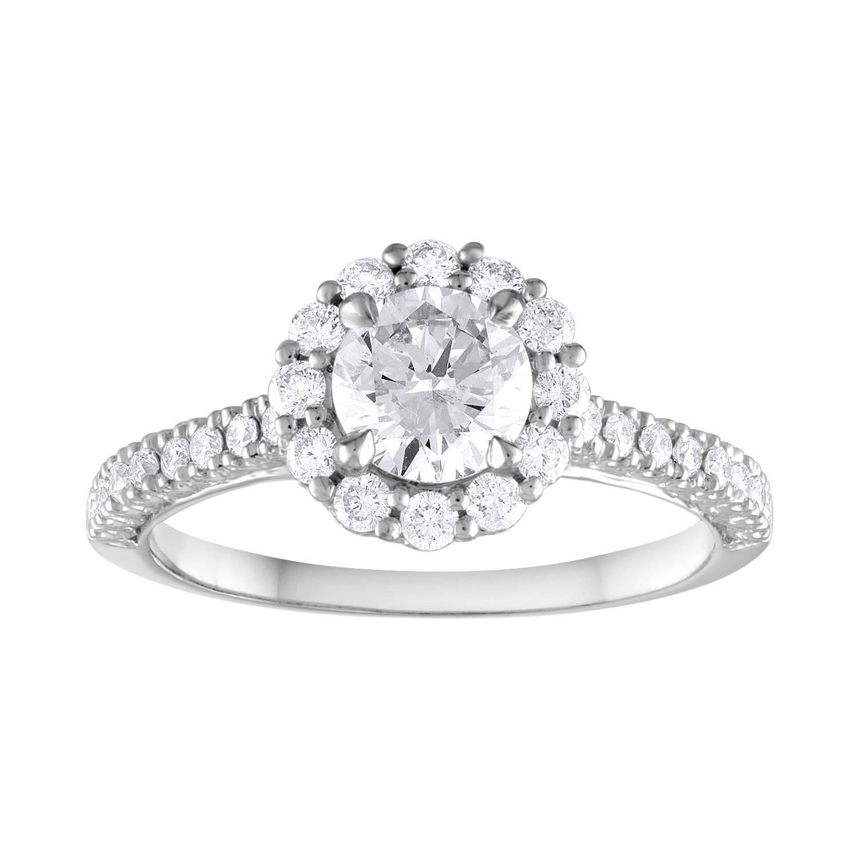 GIA Certified 0.80 Carat E VVS1 Round Diamond Gold Milgrain Engagement Ring