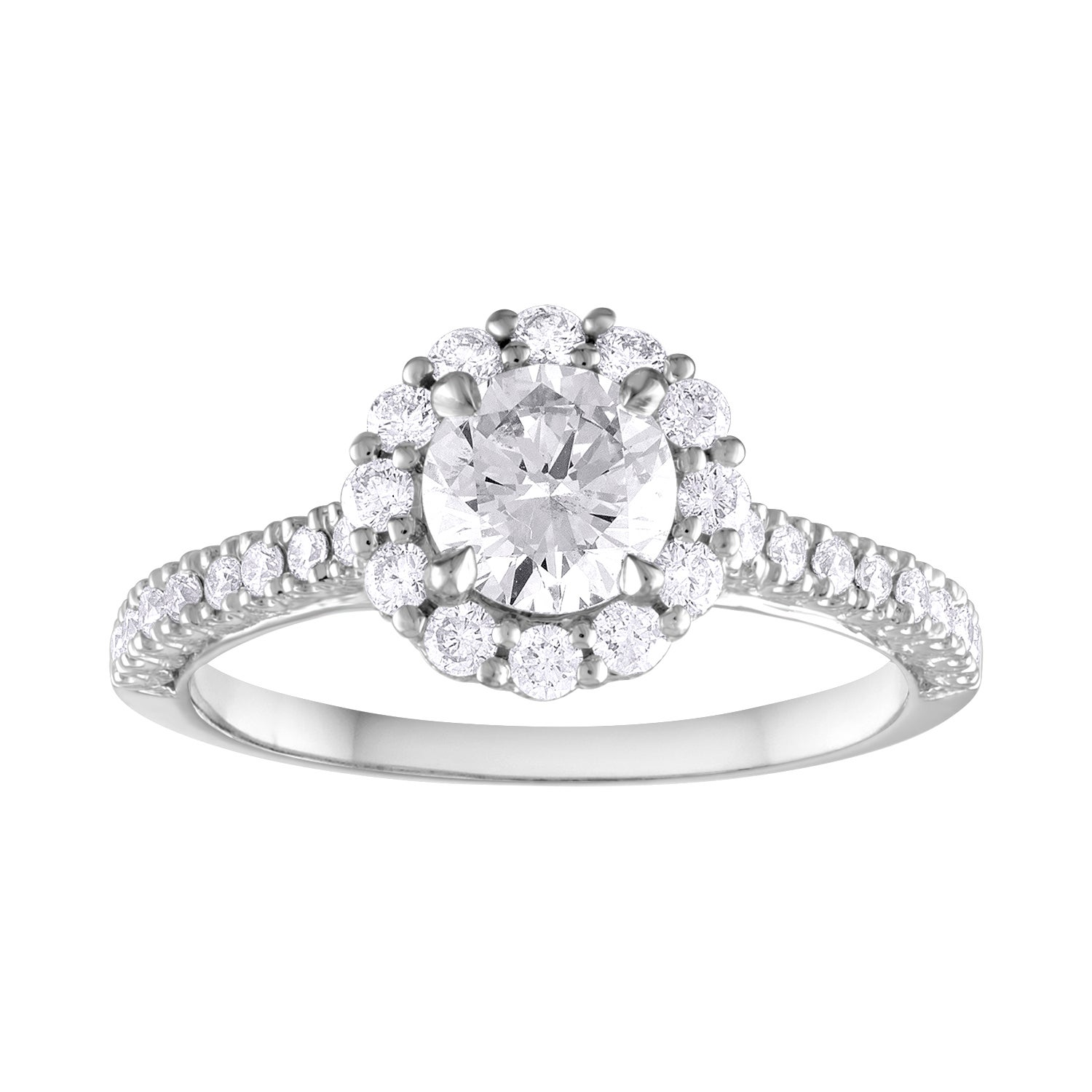GIA Certified 0.80 Carat E VVS1 Round Diamond Gold Milgrain Engagement Ring