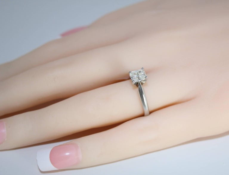 GIA Certified 0.79 Carat H VS1 Cushion Cut Diamond Platinum Solitaire Ring In New Condition For Sale In New York, NY