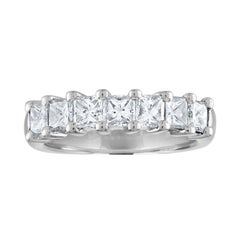 2.00 Carat Princess Cut Diamond Seven-Stone Half Band Gold Ring