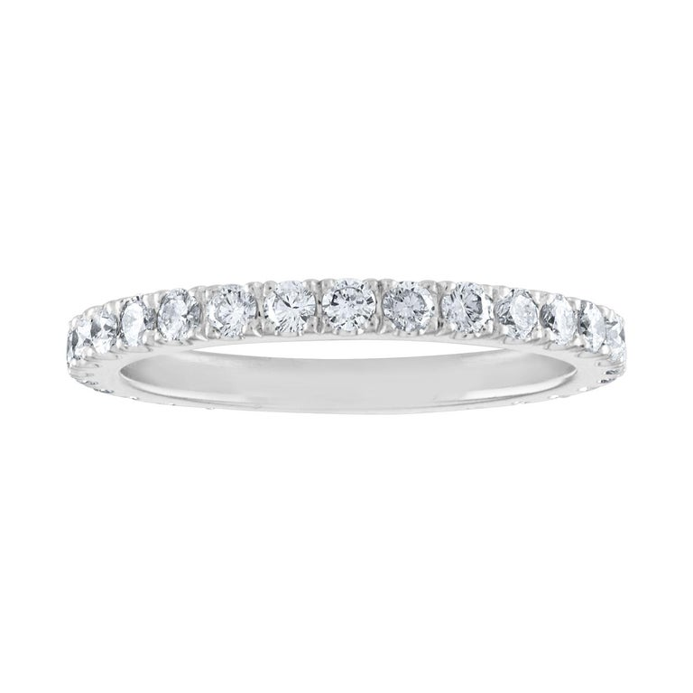 1.00 Carat Diamond Eternity Platinum Band Ring