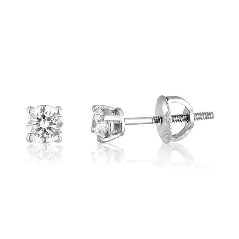 Tiffany & Co. Diamond Stud Earrings The studs are Platinum 950 The studs are 0.38 Carats in total. Each diamond is approximately 0.19 Carats G/H IF/VVS1 The studs are screw backs. The studs weigh 1.4 grams. The earrings come with an IGI Certificate.