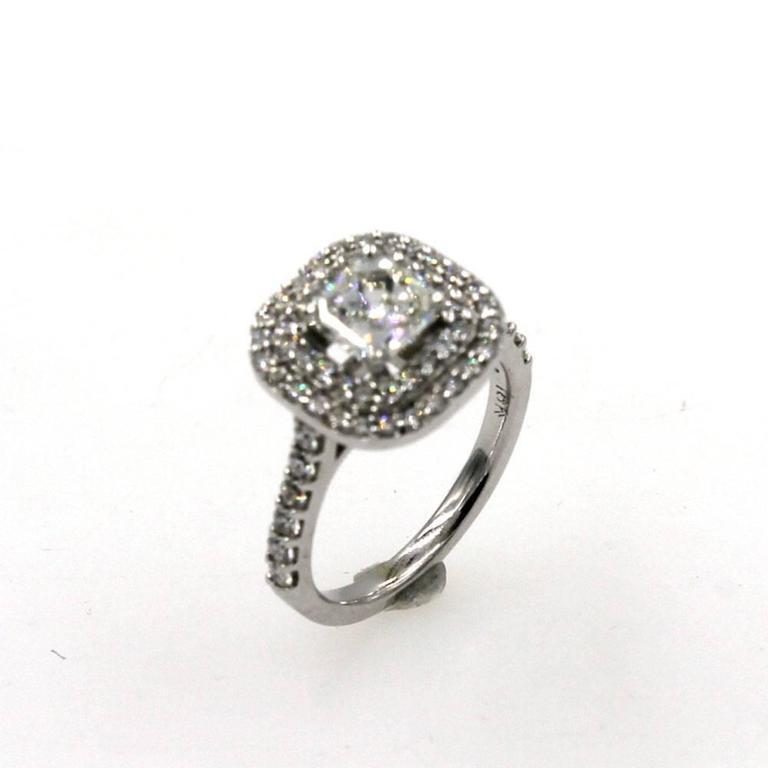 1 5 carat square emerald cut halo engagement ring
