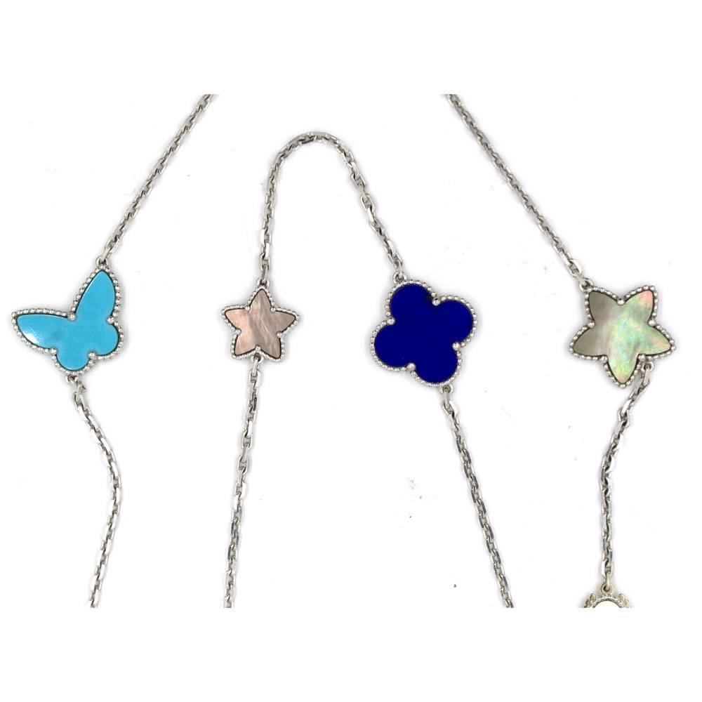 Van Cleef Lucky Alhambra Necklace: Van Cleef And Arpels Lucky Alhambra Mixed 12 Motif