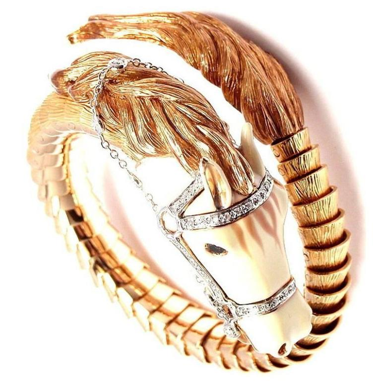 This Fabulous Horse Cuff Bracelet By Designer Roberto Coin Will Definitely Make A Statement The