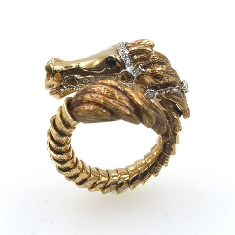 Roberto Coin Diamond Gold Flexible Horse Ring 3  sc 1 st  1stDibs & Roberto Coin Diamond Gold Flexible Horse Ring at 1stdibs Aboutintivar.Com