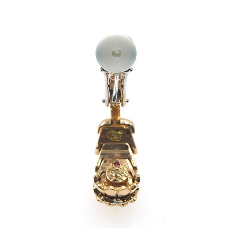 Roberto Coin Diamond 18 Karat Rose Gold Horse Mane Fashion Earrings 3