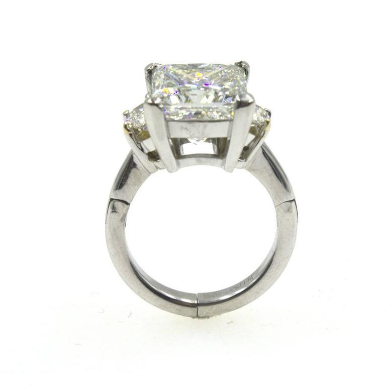 6 22 carat princess cut platinum engagement ring