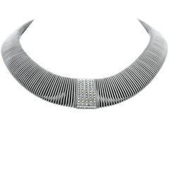 Verdi Diamond White Gold Flexible Necklace